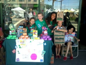Girl Scouts from the Larchmont Village Troop 549 set up shop last year on Larchmont Blvd.