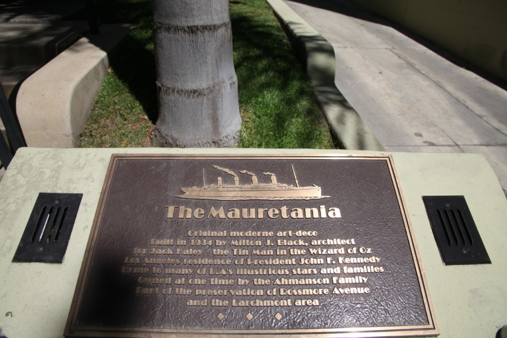 The Mauretania - plaque
