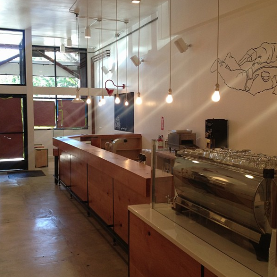 Go Get Em Tiger coffee bar...pre-opening. (photo credit @ggetLA on Twitter)