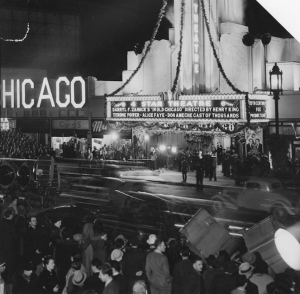 A 1938 premiere drew crowds even across busy Wilshire Blvd.