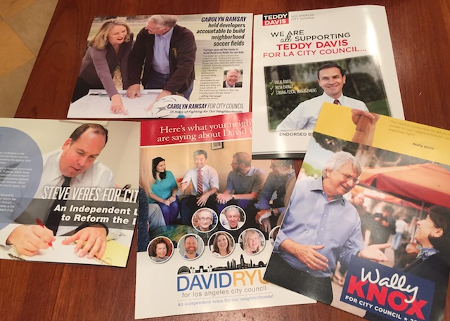 Area residents have seen a surge of direct-mail flyers from CD4 candidates.