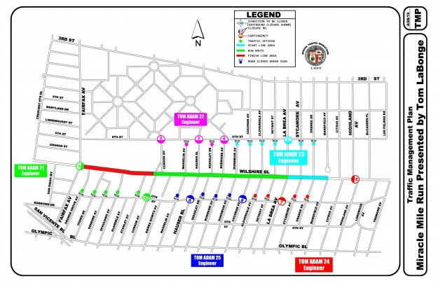 Miracle Mile Run Map