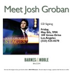 Hancock Park's Josh Groban to Sign CD at The Grove's Barnes & Noble