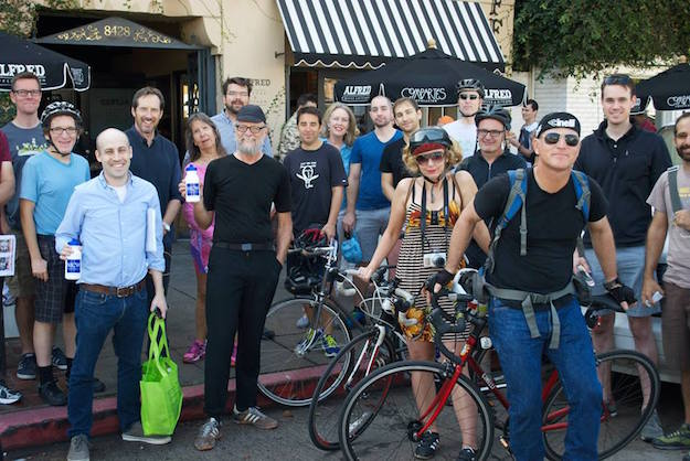 Participants in Mid City West's Friendly Ride last November