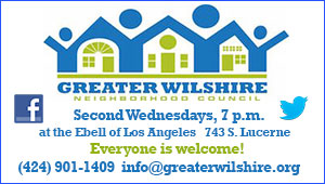 Greater Wilshire Neighborhood Council (GWNC): Biz Card + Morning Buzz (1 week per month) for 12 Months (Jun 9, 2016 -Jun 9, 2017)
