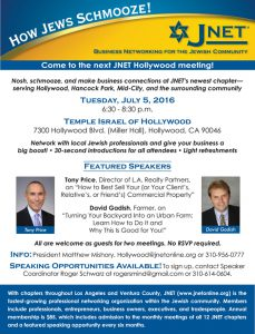 JNet Hollywood Networking @ Temple Israel of Hollywood | Wasilla | Alaska | United States