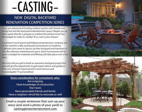 Backyard Renovation Tv Show Seeks Contestants Larchmont Buzz