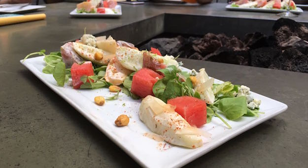 "Watermelon salad at Wood and Vine will be featured at ""Sunset and Dine"" Food festival tonight"