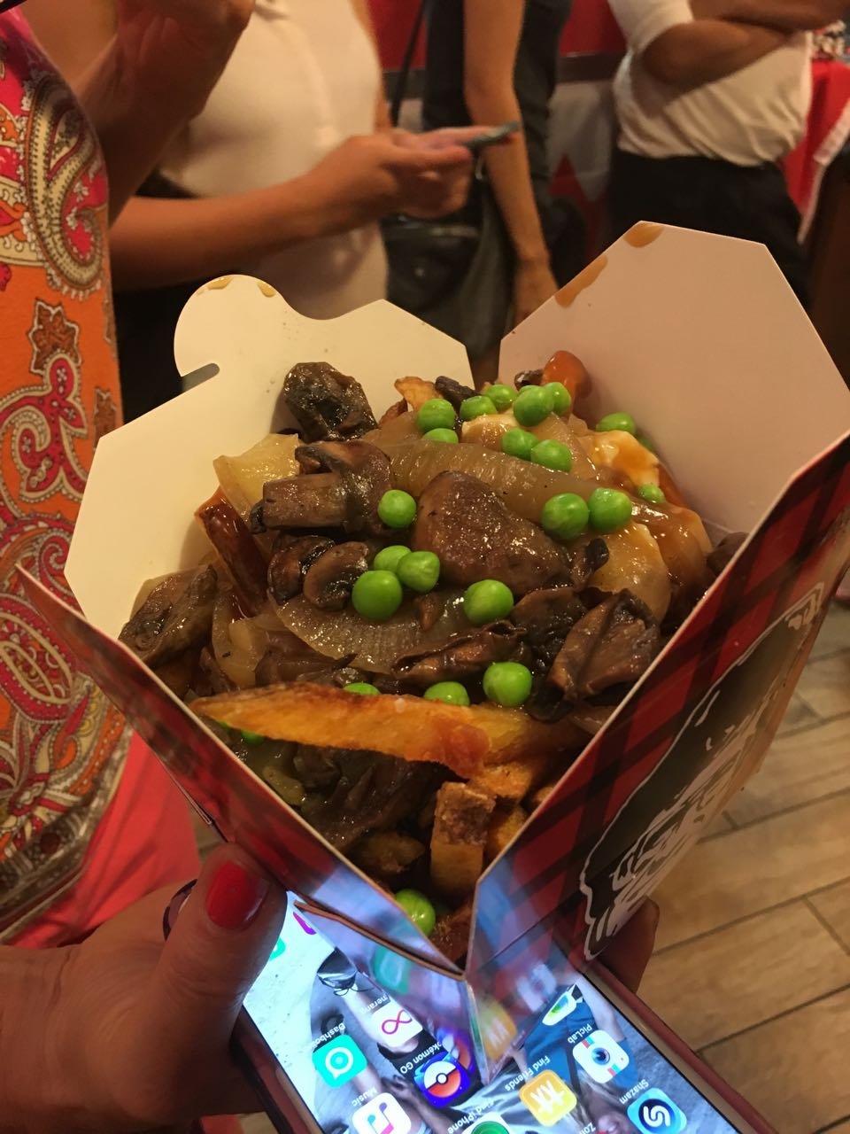 Beef Poutine with Peas