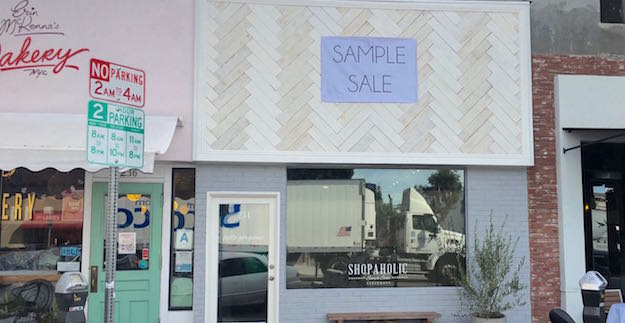 Shopaholic Sample Sales Opening today at 223 N Larchmont