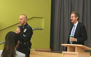 Captain David Kowalski addressed questions about crime and police response