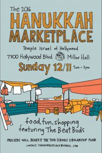 Temple Israel of Hollywood Hanukkah Marketplace Sunday, December 11 @ Temple Israel of Hollwyood | Los Angeles | California | United States