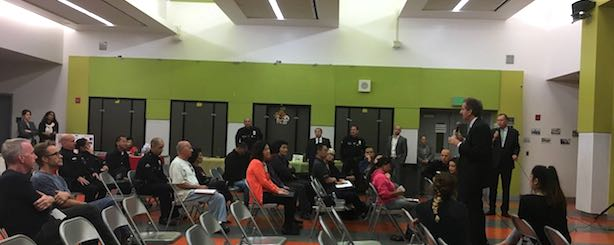 City Attorney Mike Feuer meets with residents