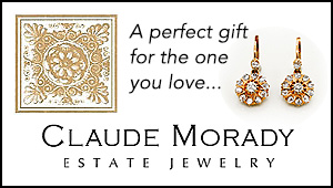 Claude Morady Estate Jewelry - Winter Holidays Biz Card 2016
