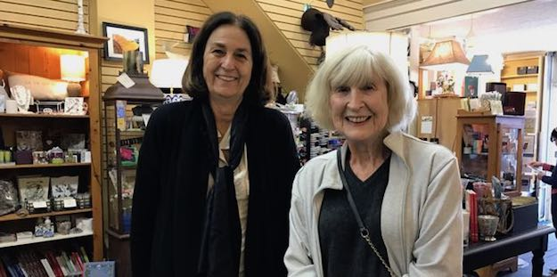 Edie Frère with Author June Dixon at Landis Stationary and Gifts