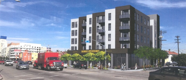 850 South La Brea, a 5-story mixed use building is being appealed by Sycamore Square neighbors