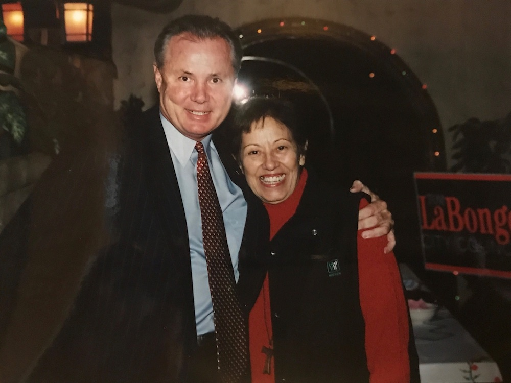 Tom LaBonge with Lucy Casado circa 2001