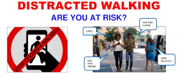 Distracted Walking Puts Us At Risk Larchmont Buzz