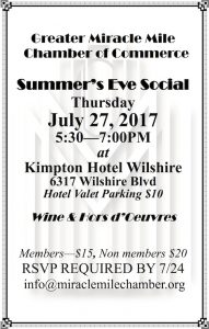 Miracle Mile Chamber of Commerce Summer's Eve Social @ The Kimpton Hotel Wilshire | Los Angeles | California | United States