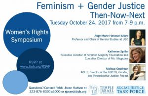 Women's Rights Symposium: Feminism + Gender Justice Then-Now-Next @ Temple Israel of Hollywood | Los Angeles | California | United States