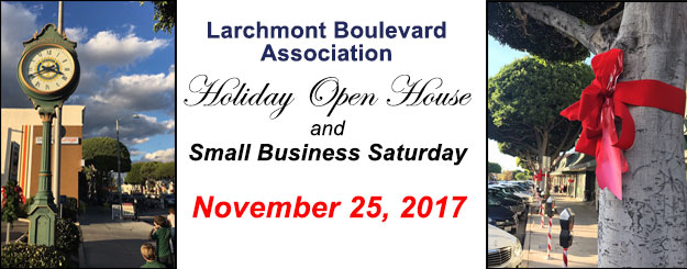 LBA Holiday Open House & Small Business Saturday @ Larchmont Village | Los Angeles | California | United States